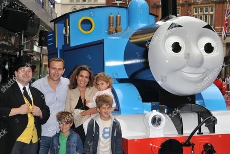The Fat Controller with Samantha Simmonds & her family