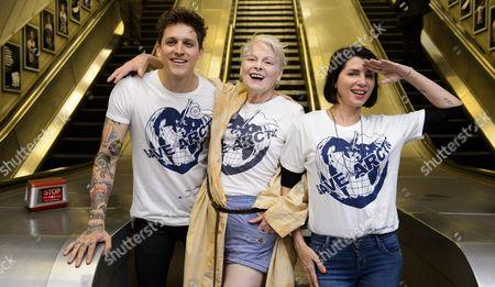 Dame Vivienne Westwood, Leebo Freeman and Sadie Frost