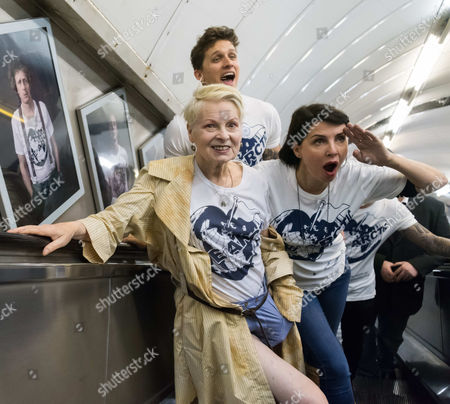 Dame Vivienne Westwood, model Leebo Freeman, Sadie Frost