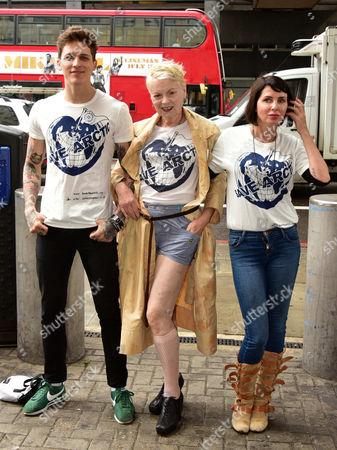 model Leebo Freeman, Dame Vivienne Westwood, Sadie Frost