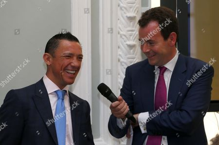 Frankie Dettori with Nick Luck at The Qatar Goodwood Festival Press Launch British Academy