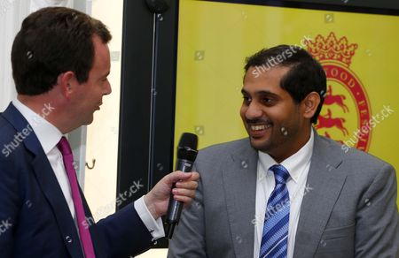 Nasser Al Kaabi with Nick Luck at The Qatar Goodwood Festival Press Launch British Academy