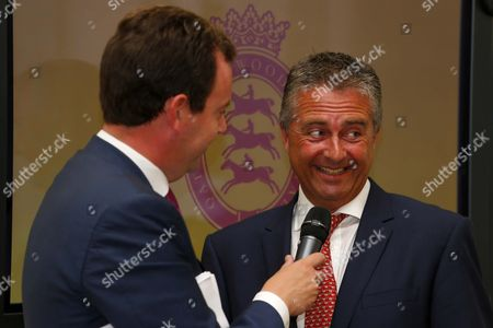 Kevin Buckley with Nick Luck at The Qatar Goodwood Festival Press Launch British Academy