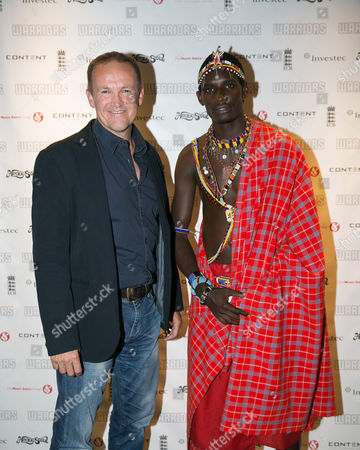 Former England coach Andy Flower and Sonyanga Ole Ngais of the Maasai Warriors Cricket team