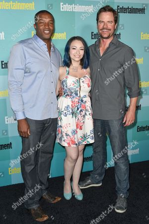 Stock Photo of Roger R. Cross, Jodelle Ferland and Anthony Lemke