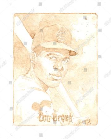 One of the beer paintings, Lou Brock