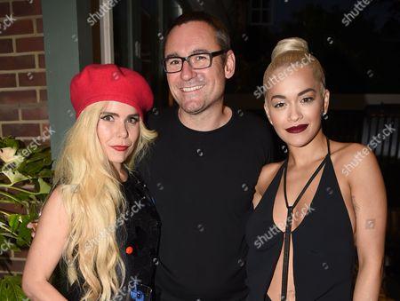 Paloma Faith, Jason Iley and Rita Ora