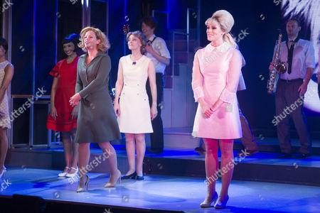 Francesca Jackson (Nancy) and Ellie Ann Lowe (Mary O'Brien) during the curtain call