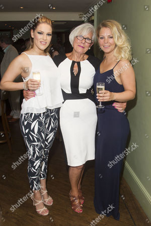 Stock Photo of Ellie Ann Lowe (Mary O'Brien), Lynne Essex and Francesca Jackson (Nancy) attend the after party