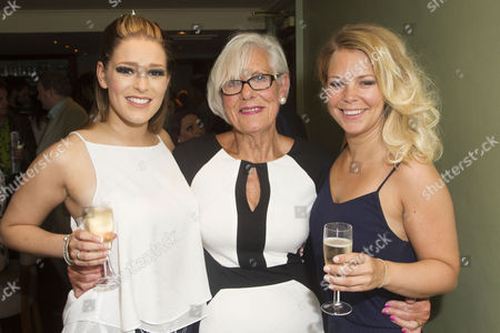 Ellie Ann Lowe (Mary O'Brien), Lynne Essex and Francesca Jackson (Nancy) attend the after party