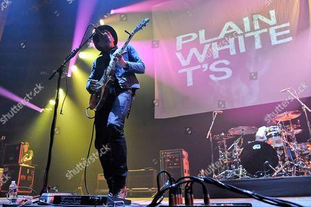 Editorial image of Plain White T's in concert, Texas, America - 11 Jul 2015