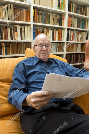 Stock Image of Writer Clive James at his home