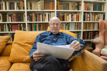 Stock Picture of Writer Clive James at his home