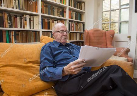 Writer Clive James at his home