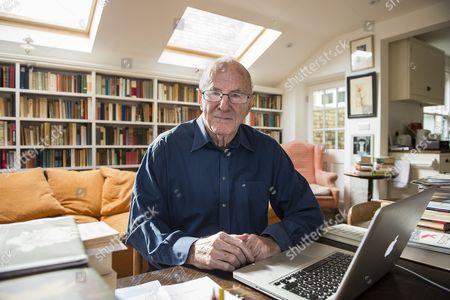 Editorial photo of Clive James at home, Cambridge, Britain - 17 Apr 2015