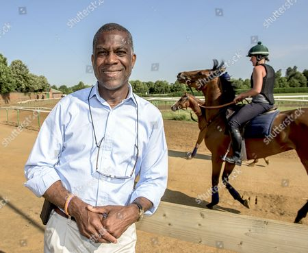 West Indian cricket legend Michael Holding on the Gallops.