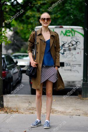 Stock Image of Maja Salamon after Maison Margiela Haute Couture, Grand Palais