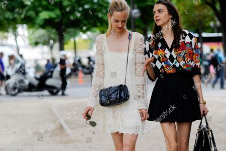 Editorial image of Street Style at Autumn Winter 2015, Haute Couture, Paris Fashion Week, France - Jul 2015