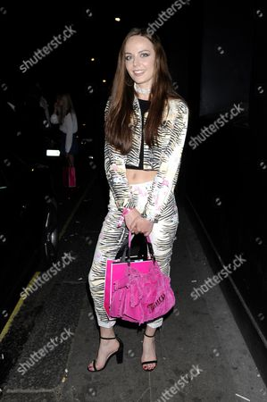 Editorial image of Juicy Couture 'I Am Juicy' Fragrance Launch, The Arts Club, London, Britain - 15 Jul 2015