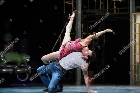 Stock Photo of Ashley Shaw (Lana) and Jonathan Ollivier (Luca)