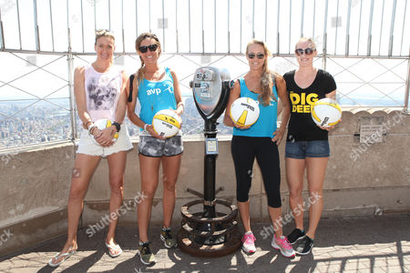 Editorial image of Olympic Beach Volleyball Team visit the Empire State Building, New York, America - 16 Jul 2015