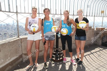 Stock Picture of Kerri Walsh Jennings, April Ross, Jennifer Kessy and Emily Day