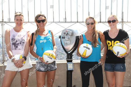 Kerri Walsh Jennings, April Ross, Jennifer Kessy and Emily Day