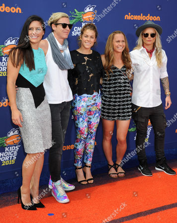 Ali Krieger, Abby Wambach, Christie Rampone and Ashlyn Harris