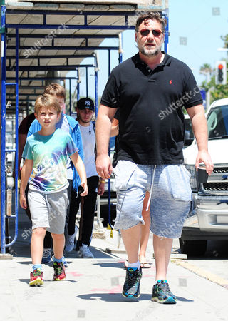 Editorial image of Russell Crowe out and about, Los Angeles, America - 16 Jul 2015