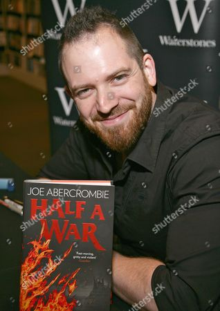 Editorial picture of Joe Abercrombie 'Half A War' book promotion, Reading, Britain - 17 Jul 2015