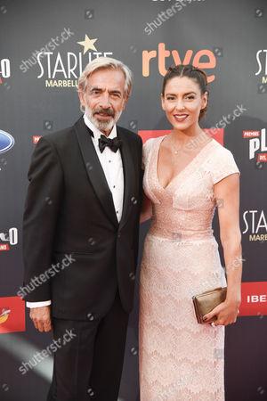 Imanol Arias and his girlfriend Irene Meritxell