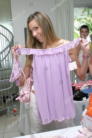Katrina Campins with J Lo clothing