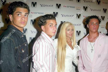 Victoria Gotti and sons Frank, Carmine and John