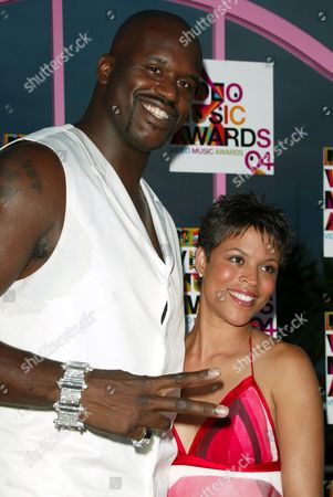 Shaquille O'Neal and wife Shaunie Nelson