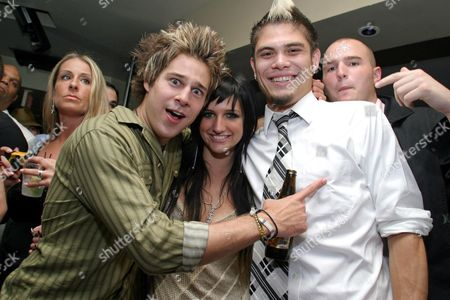 Stock Picture of Ryan Cabrera, Ashlee Simpson and Ray Brady