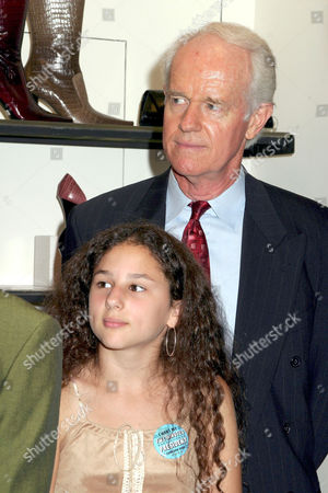 Mike Farrell and Hallie Eisenberg
