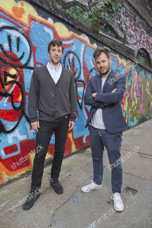 Editorial picture of Tom Greaves and Samuel Abrahams, Shoreditch, London, UK - 15 Jul 2015