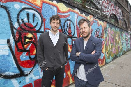 Stock Picture of 'Offline Dating' actor Tom Greaves and director Samuel Abrahams
