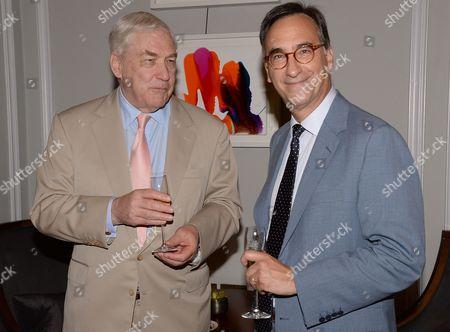 Stock Photo of Conrad Black and Ali Wambold