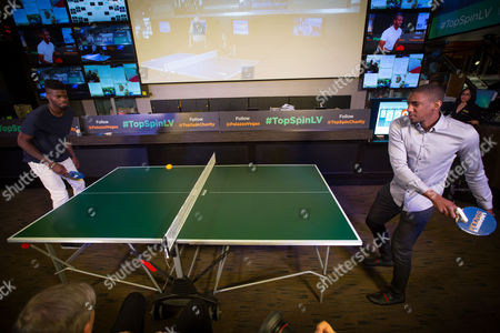 Editorial image of TopSpin Charity Ping Pong Tournament at the Palazzo, Las Vegas, America - 18 Jul 2015