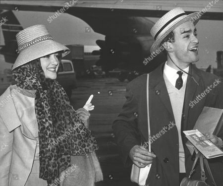 Actors Polly Adams And Richard Hampton At London Airport. Box 0604 06072015 00290a.jpg.