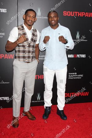 Daniel Jacobs (L) and Peter Quillin, Boxers