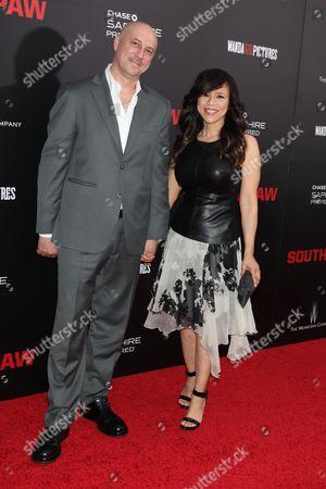 Rosie Perez (R) and Eric Haze (L)