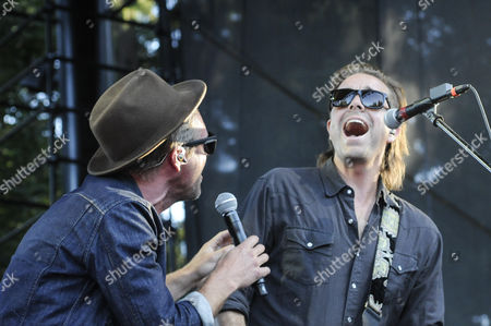 Jon Foreman (left) and guitarist Drew Shirley of Switchfoot at Marymoor Park.