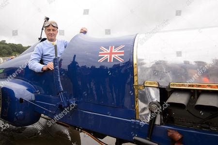 Editorial photo of Bluebird 350hp Sunbeam 90th anniversary demonstration run, Pendine Sands, Wales, Britain - 21 Jul 2015