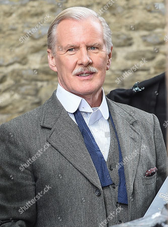 David Robb on the Downton Abbey set for final day of filming in Bampton, Oxfordshire