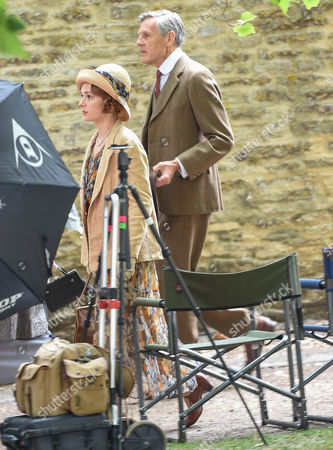 Douglas Reith on the Downton Abbey set for final day of filming in Bampton, Oxfordshire