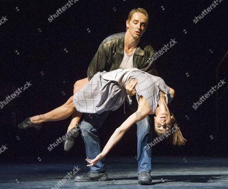 Stock Image of Kate Lyons as Rita, Liam Mower as Angelo