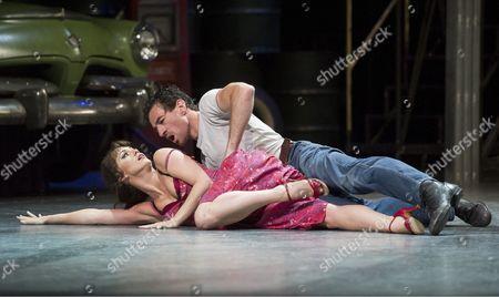 Stock Image of Ashley Straw as Lana, Jonathan Ollivier as Luca