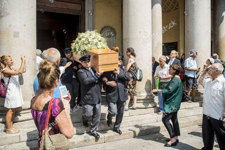 Stock Image of Funeral of Elio Fiorucci
